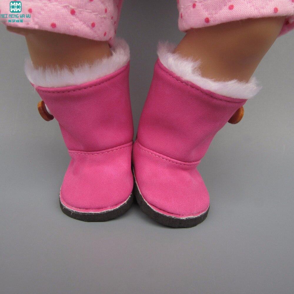 cocok 43 cm Zapf Bayi Lahir Aksesoris Boneka Sepatu boneka Merah Muda - Boneka dan mainan lunak - Foto 3