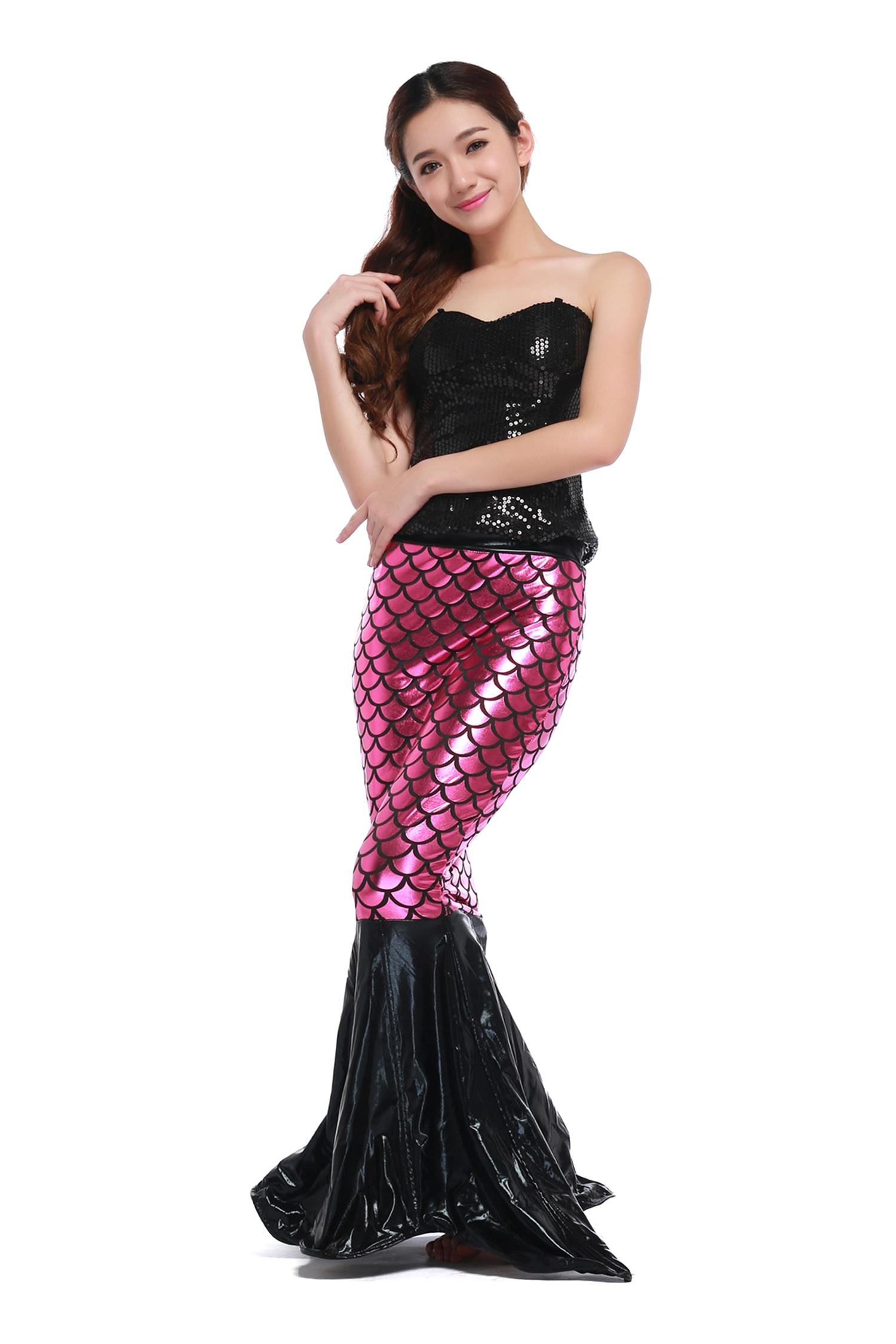 Mermaid Tail Long Dresses 2017 Adult Women Strapless