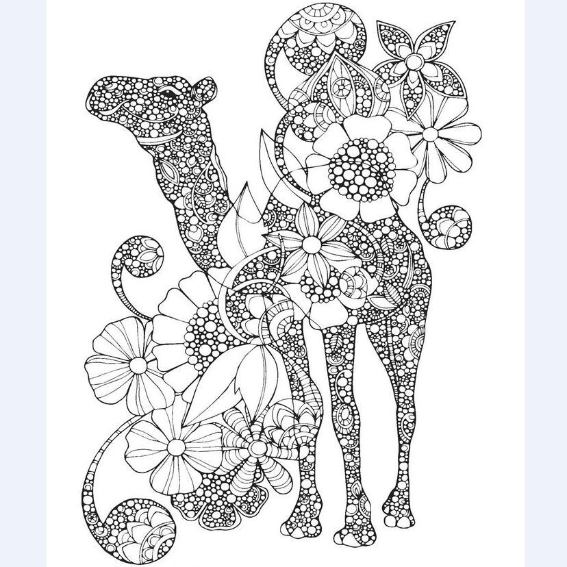 Tiere Wunderland Kreative Malbuch Für Kinder Erwachsene Stress ...