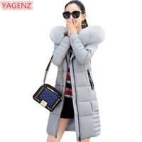 YAGENZ Winter Jacket Women Cotton Hooded Coat Large Size Women Clothing Long Section Fashion Cotton Clothing