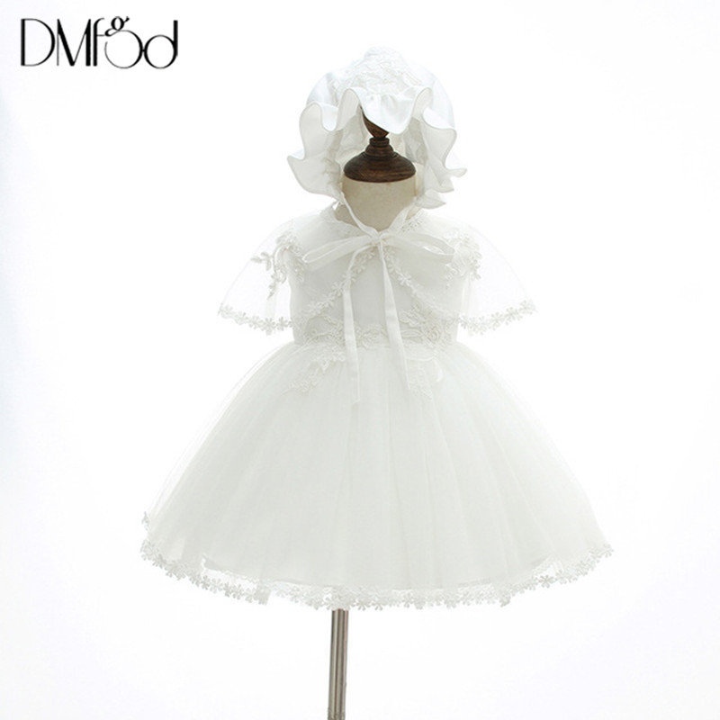 Baby Girls Dresses New Fashion Lace Ball Gown For 0 1 2 Years Old Baby Party Birthday Kids Clothes Dresses with Hat & Shawl 6116 ...