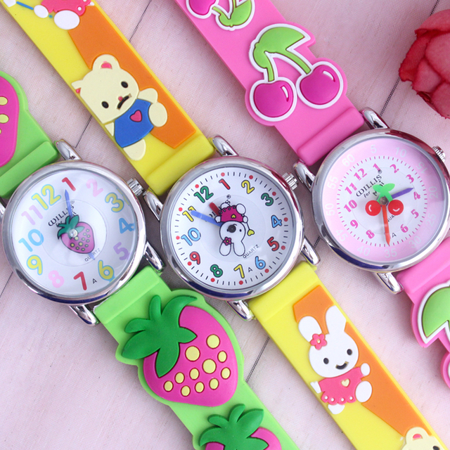 Waterproof Kid Watches rabbit Children Silicone Wristwatches Brand Quartz Wrist