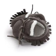 Модная обувь из искусственной кожи; зимняя первая обувь для малыша; унисекс; подошва для детской кроватки; обувь на плоской подошве для малышей