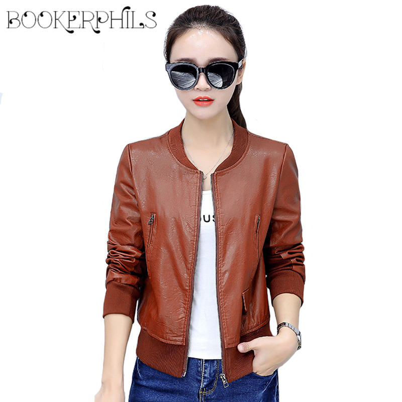 2018 Autumn Winter Soft Faux   Leather   Jacket Women Plus Size Zipper Casual PU Motorcycle Biker Short Coat Female Outerwear 4XL
