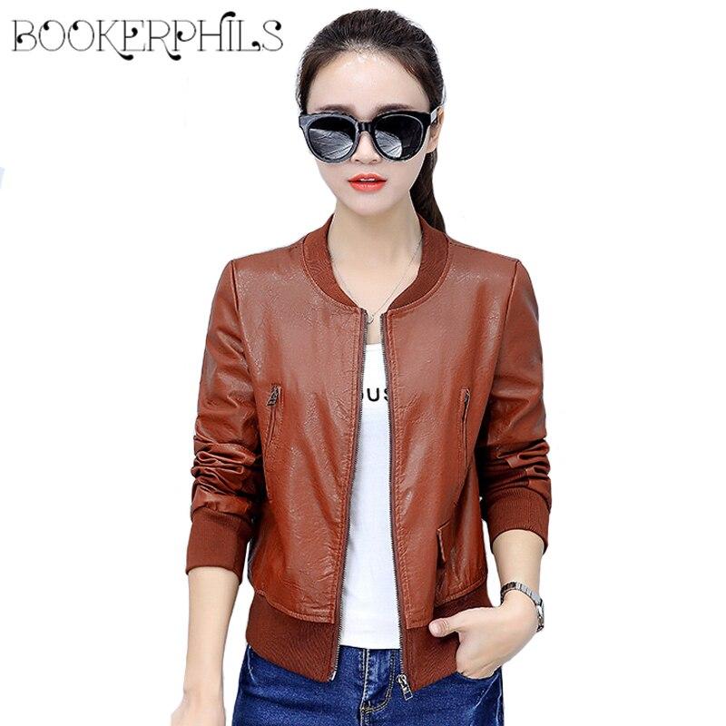 2019 Autumn Winter Soft Faux   Leather   Jacket Women Plus Size Zipper Casual PU Motorcycle Biker Short Coat Female Outerwear 4XL