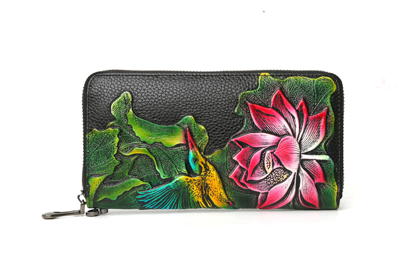genuine leather wallet female (6)