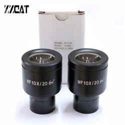 WF10X/20mm rozmiar montażowy 23.2mm okulary Super Wildfield soczewka optyczna okular mikroskopu do mikroskopów biologicznych