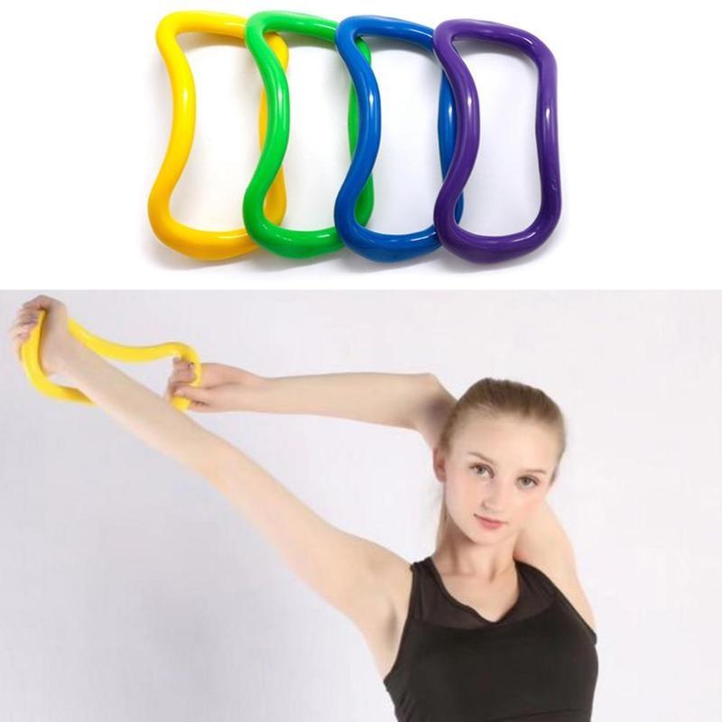 @1  5 Цветов Yoga Circle Yoga Stretchdline Ring Главная Женщины Фитнес-оборудование Фасция Массаж Тренир ★