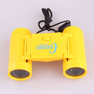 Telescope Binocular Foldable Children Magnification-Toy Kid with Neck-Tie-Strap Lightweight