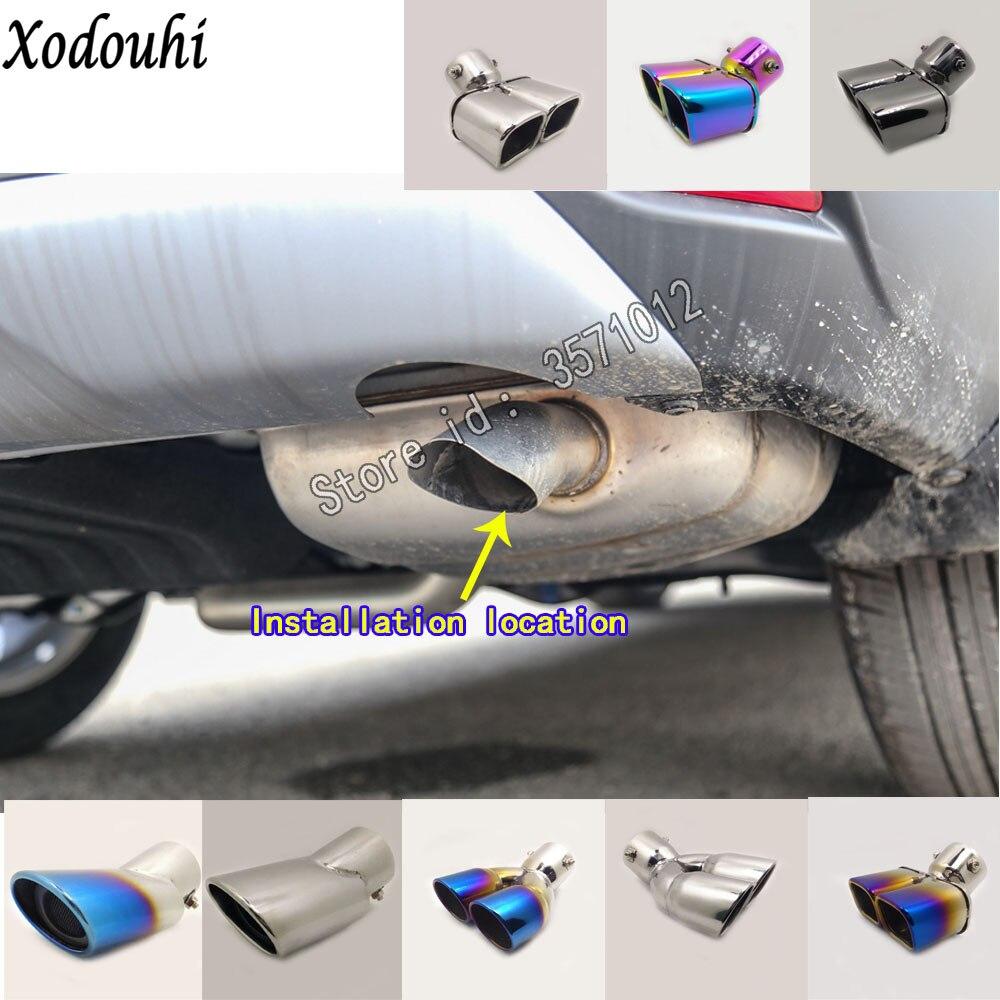 For Honda CRV CR-V 2017 2018 Car Body Cover Muffler Exterior Back End Pipe Dedicate Exhaust Tip Tail Outlet Vent Ornament 1pcs
