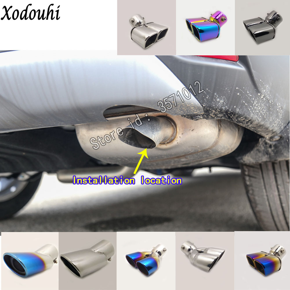 For Honda CRV CR-V 2017 2018 2019 2020 Car Body Muffler Exterior Back End Pipe Dedicate Exhaust Tip Tail Outlet Vent Ornament