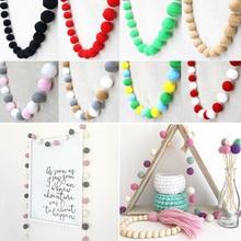 Room-Ornament Wool-Felt-Ball Garland Hanging-Decoration Handmade Kids Diy Home-Dcor Hairball