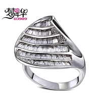 DreamCarnival 1989 Square Cut Zirconia Ring For Women Luxury Engagement Jewelry Big Discount Coupon Anillos Mujer