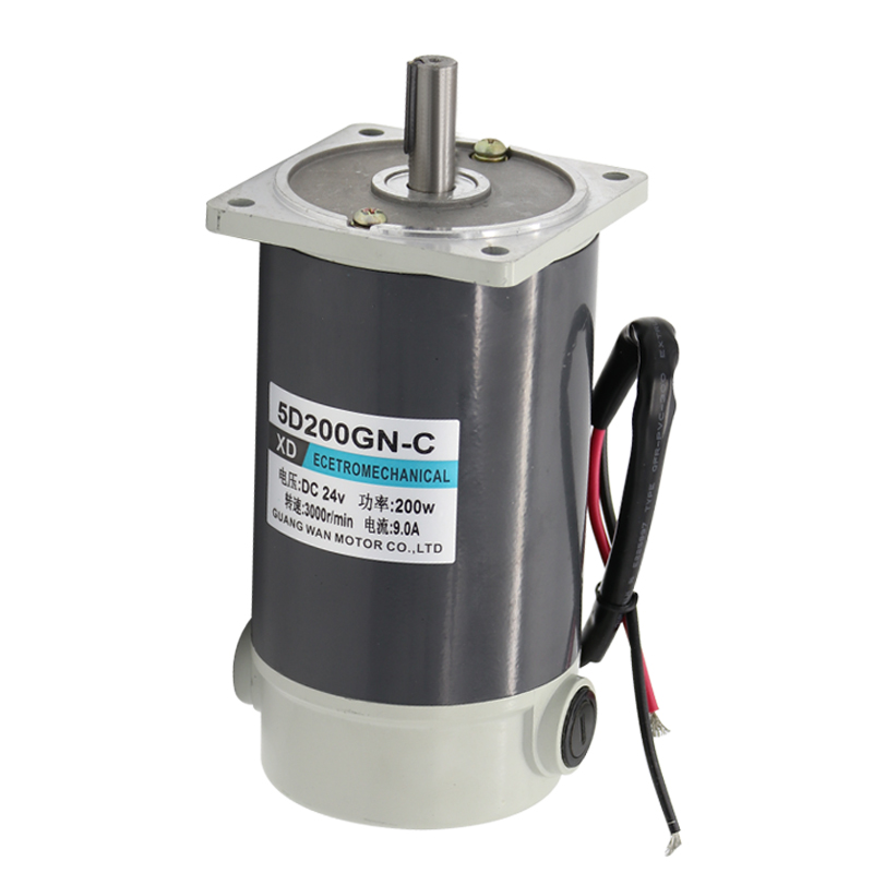 200W DC Geared Motor, 5D200GN-C 12V24V Geared Low Speed Motor, Micro Speed Adjustable Bidirectional Small Motor200W DC Geared Motor, 5D200GN-C 12V24V Geared Low Speed Motor, Micro Speed Adjustable Bidirectional Small Motor