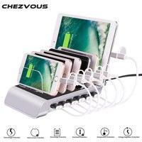 Universal Detachable 6 Ports 10 2A USB Charging Station Desktop Tablet Smartphone Multi Device Hub Charging