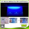 Zebra p330i cinta uv azul 1000 impresiones de Cebra/P310 P330i impresora de tarjetas P430i J310 Javelin J330i J420i UV cinta