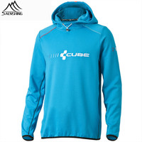 Saenshing New CUBE Cycling jersey outdoor jacket Breathable Softshell Jacket For Outdoors Sports Men's Coat MTB Bike Jersey