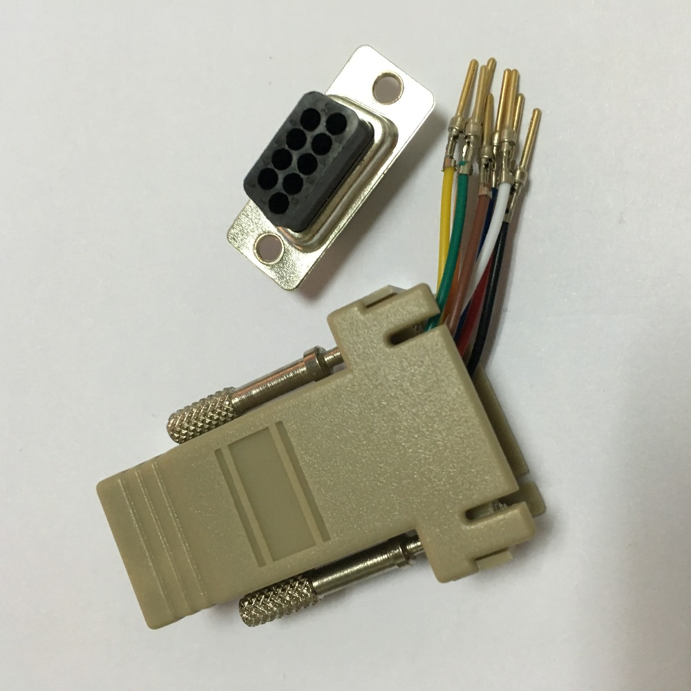 DB9 Male to RJ45 Male M/M RS232 Modular Adapter Connector Extender Convertor DB9 Male to RJ45 wholesale RS232