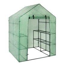 Портативный Пластик сад парниковых Обложка для 2 Слои мини ходить в парниковых открытый защиты растений цветы (никакой Утюг стенд)