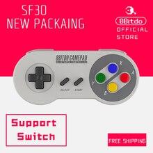 Официальный 8bitdo SF30 Bluetooth Беспроводной контроллер Поддержка Nintendo переключатель Android MacOS геймпад Новый packaing 80BB