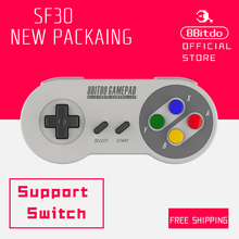 Official 8Bitdo SF30 Bluetooth Wireless Controller Support Nintendo Switch Android MacOS  Gamepad  New Packaing 80BB