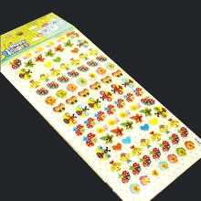 3 Sheet cute ladybug Diary Decoration Kids Stickers 3D PET Korean version of the bubble stickers