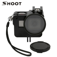 SHOOT CNC Aluminum Alloy Skeleton Rugged Cage Protective Frame Case For GoPro Hero 5 Black With