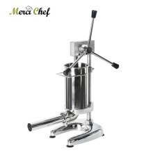 ITOP 2L Sausage Stuffer Stainless Steel Meat Filling Machine Kitchen Food Processors Manual Filler With 4 Size Funnels