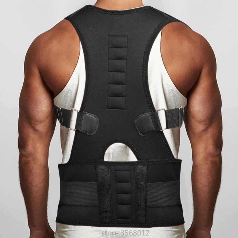 Magnetic Back Belt Back Brace Support Shoulder Belt Corrector Rectify Straighten Posture Correction Orthopedic Beauty Corset Men