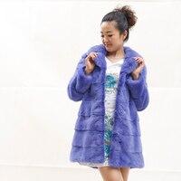 Новое поступление зимние Для женщин норки Мех животных Пальто для будущих мам одежда длинные натуральный норки Меховая куртка с отложным в