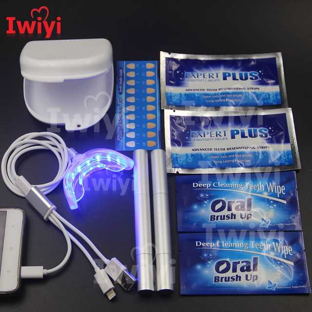 Kit Avancado 3 Interface 16led Tiras De Clareamento Dos Dentes