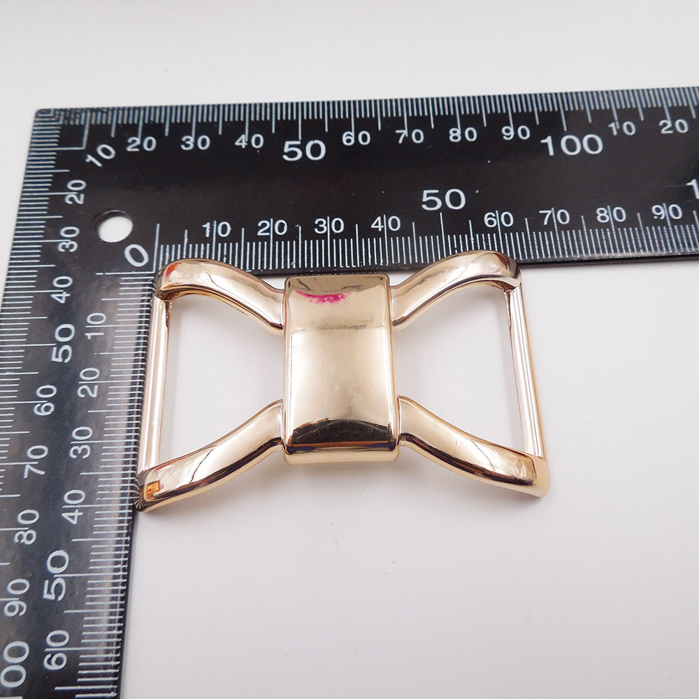 40/62mm,10pcs uv plated rose gold no fade ribbon big buckles acessories Invitation Ribbon Slider Headband Hair Clip DIY