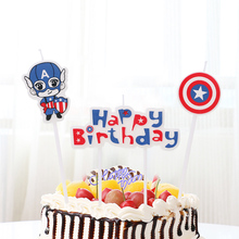 candle cake decorating supplies the avengers party decorations children birthday superhero captain america happy
