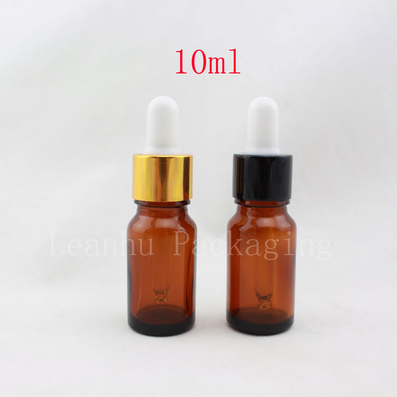 10ml X 50  anodized brown essential oil glass pipette dropper bottles,coffee color glass dropper vial ,amber glass bottles