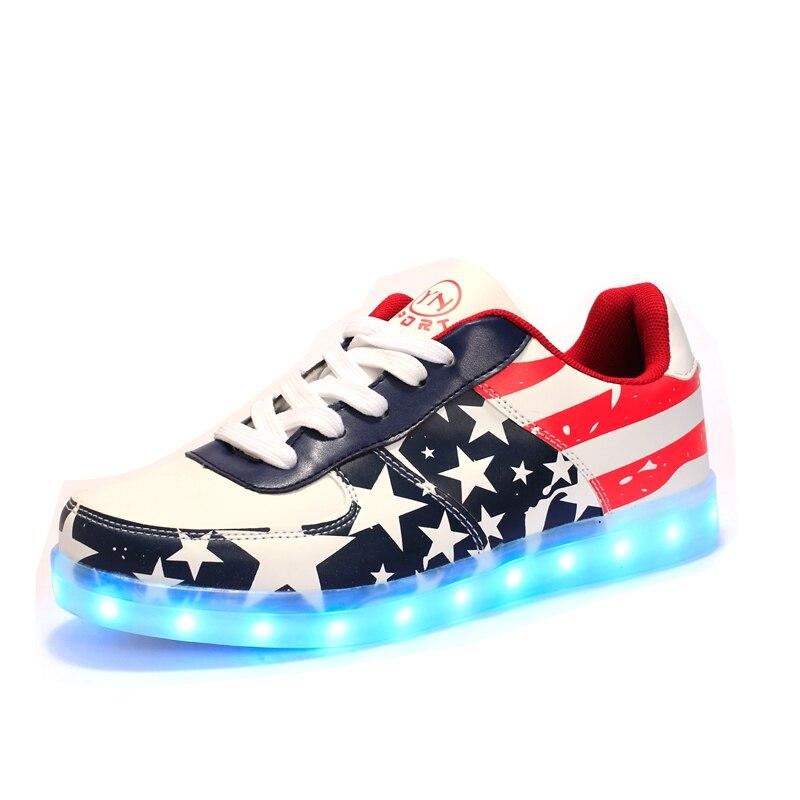 2018 Men Shoes Usb Charging Glowing Led Shoes For Men Luminous Shoes With Light Men Party Shoes Causal Zapatos De Hombre Size 46 Year-End Bargain Sale Men's Shoes