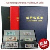 Przezroczysty Pyłoszczelna Papieru Pieniędzy Kolektora 20 stron Świecie Papierowe Pieniądze Pieniądze Papierowe Albumu Zbieranie Organizator