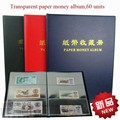 Transparent Dustproof Paper Money Collector 20 pages World Paper Money Album Paper Money Collecting Organizer