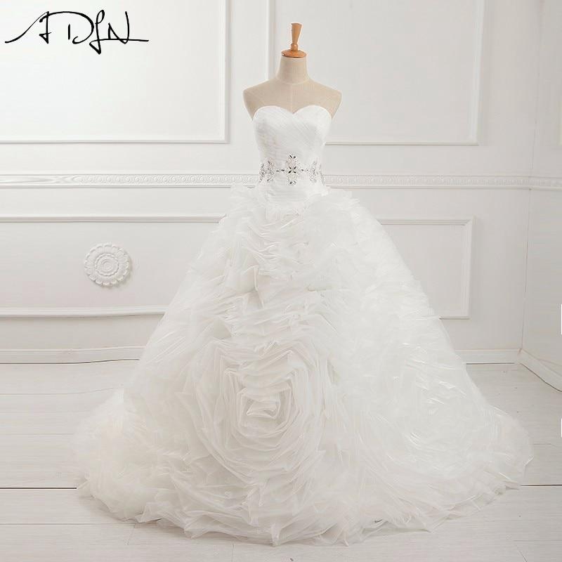 ADLN Corset Wedding Dress High Quality Sweetheart Neckline Ball Gown Organza Bridal Gown Vestidos de Noiva Princesa Luxo