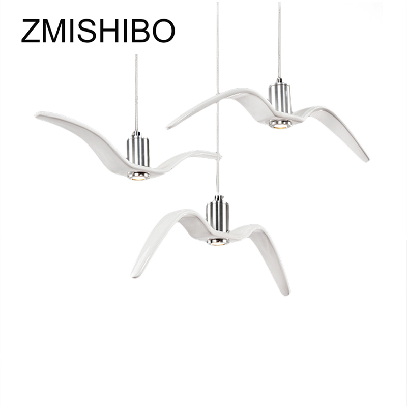 ZMISHIBO Modern Pendant Lights Seagull Shaped Ceramic Drop Lights For Living Room With LED Light Source Hanging Lamp Luminaire