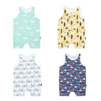 TinyPeople 2019 bebé onesies verano sin mangas algodón telas chalecos Bebé niños niñas vestido lindo ropa recién nacido