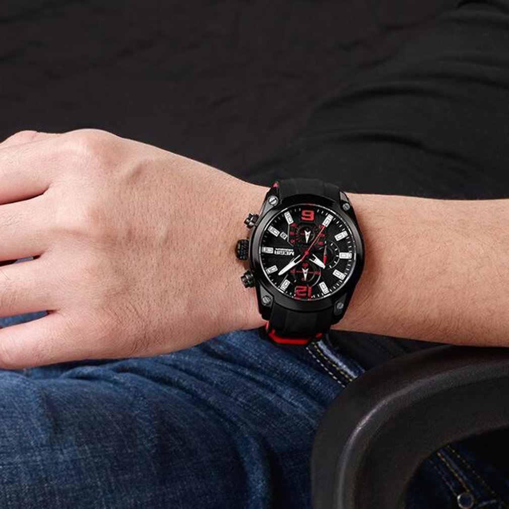 Uomini di orologi di Lusso del Quarzo di Sport orologio da polso orologio Mens Orologi di Cuoio di Affari orologio da polso Impermeabile Relogio Masculino VENDITA CALDA