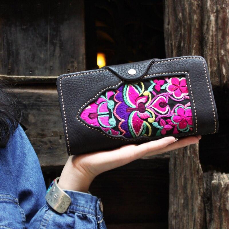 Длинные Роскошные Брендовые женские кошельки, модный кожаный кошелек на застежке, Женский кошелек, клатч, женский кошелек, кошелек для моне... - 2