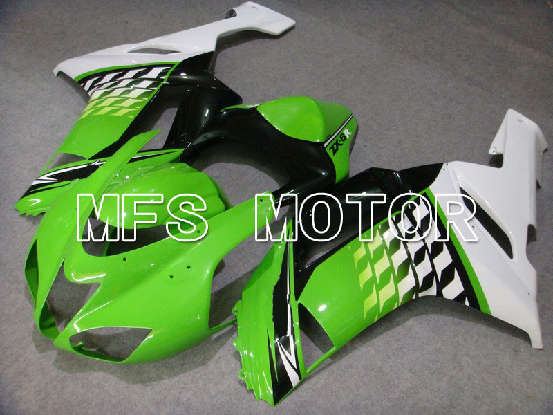 For Kawasaki NINJA ZX6R 2007 2008 07 08 Injection ABS Fairing Kits NINJA ZX 6R 07 08 Motorcycle Accessories Green Black/White injection molding aftermarket set for kawasaki zx 6r 07 08 green black fairings ninja 636 zx6r 2007 2008 fairing kit ye16