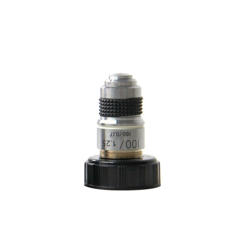 100X 185 Achromatic Objective Lens Biological Microscope 160/0.17 40/0.65 Conjugate Distance 185mm for Biological Microscope conjugate distance 195 universal metal 100x semi flat field achromatic objective lens for biological microscope