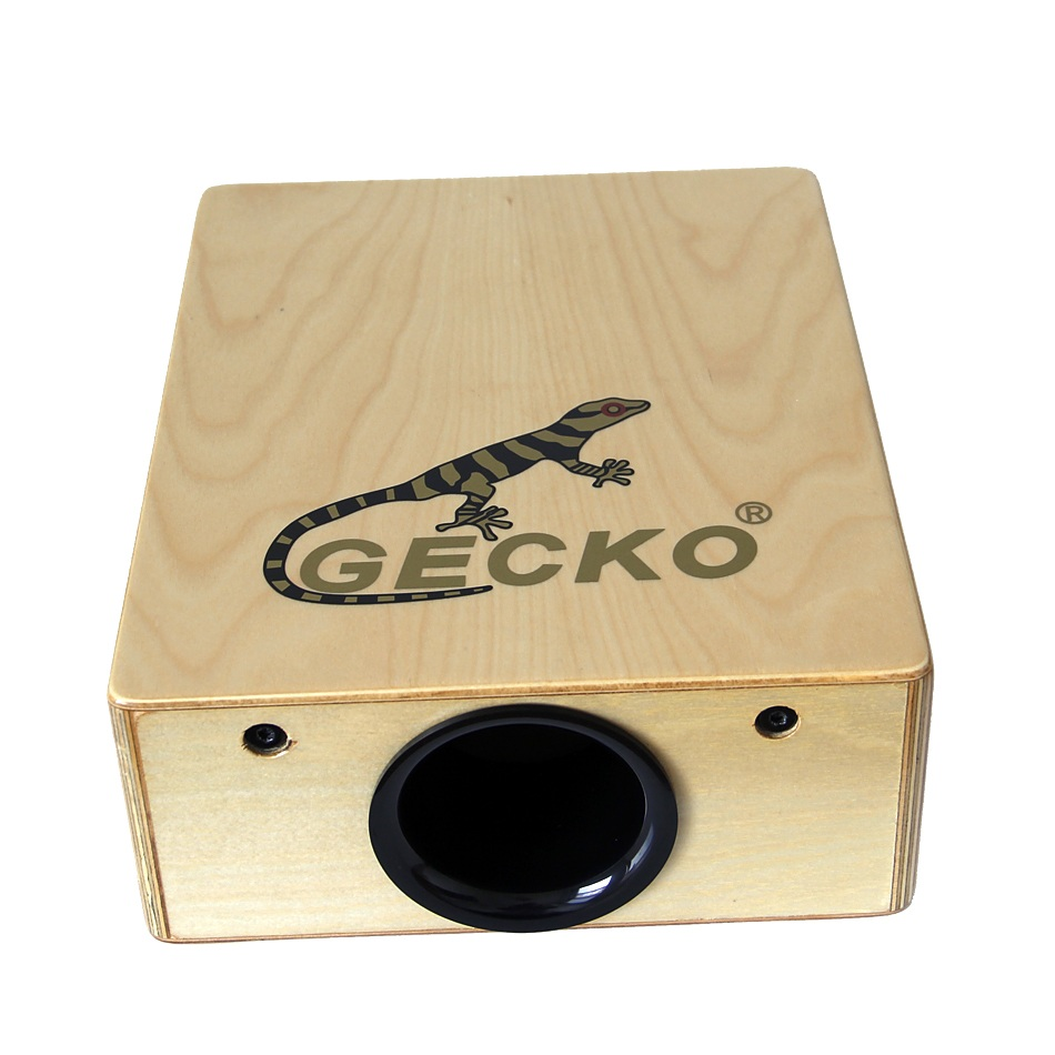 GECKO C-68B Hand Percussion Cajon Box Drum with Drum Bag & Drum Strap