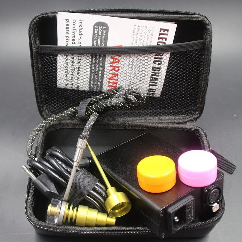 Kit de clou le plus chaud bobine e-nail PID TC Enail Dab plate-forme avec des tuyaux en verre Bio