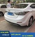 For Hyundai Elantra Spoiler ABS Material Car Rear Wing Elantra Primer Color Rear Spoiler For Hyundai Elantra Spoiler 2012-2015