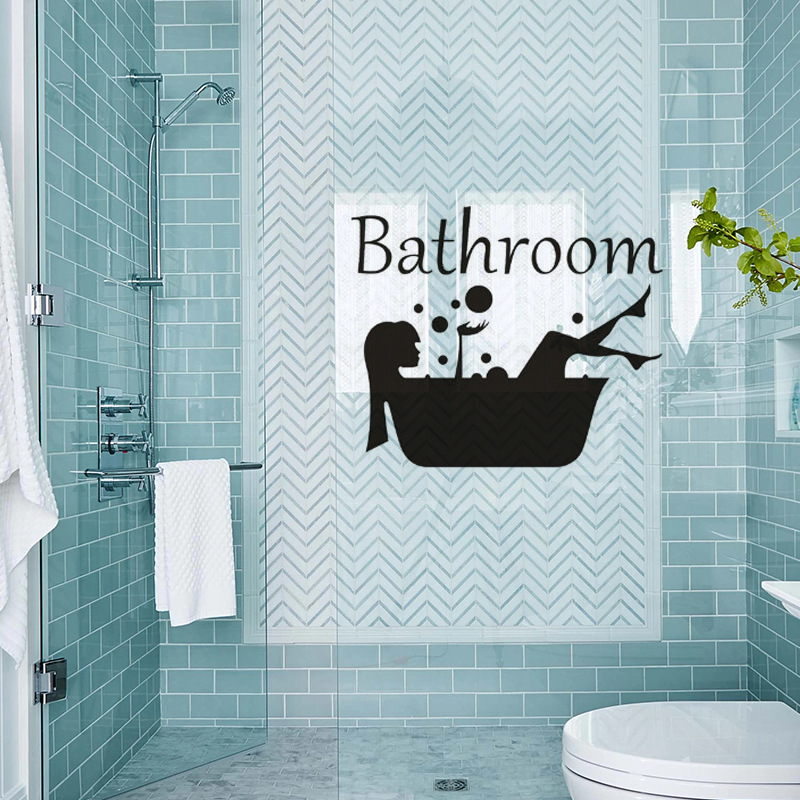 Creative Beauty Bathroom Wall Sticker For Bathroom Door Window Home Decoration Mural Decals Wallpaper Girl Stickers