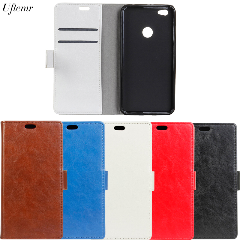 Uftemr Luxury Business Leather Case For Xiaomi Redmi Note 5A Crazy House Skin Flip Cover For Redmi Note 5A Phone Accessories