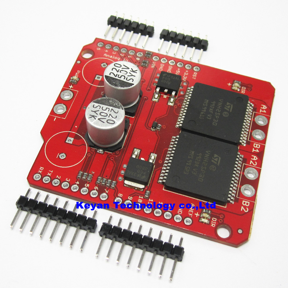 Free shipping monster moto shield shield vnh2sp30 for High current stepper motor driver